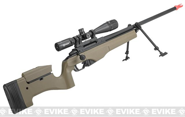 z ARES Airsoft MSR-009 Gas Powered Bolt Action Sniper Rifle - Dark Earth