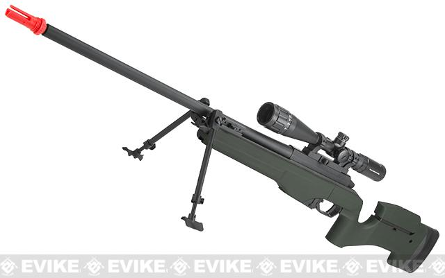 ARES Airsoft MSR-009 Gas Powered Bolt Action Sniper Rifle - Olive Drab