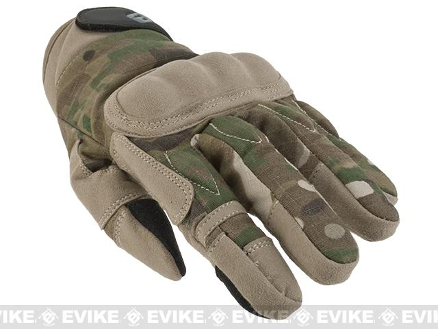 Evike.com Guardian Hard Knuckle Tactical Gloves - Camo (Size: Large)