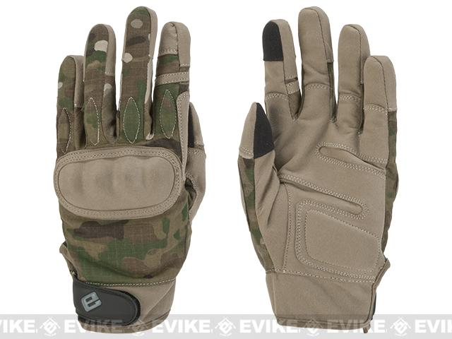 Evike.com Guardian Hard Knuckle Tactical Gloves - Camo (Size: Medium)