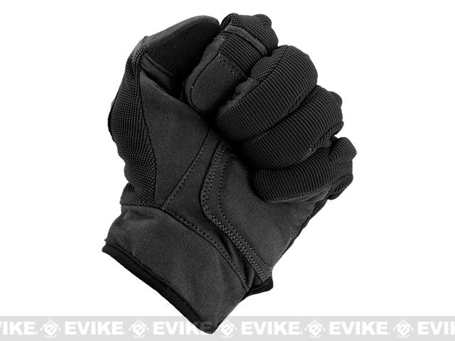 Evike.com Guardian Hard Knuckle Tactical Gloves - Black (Size: Medium)