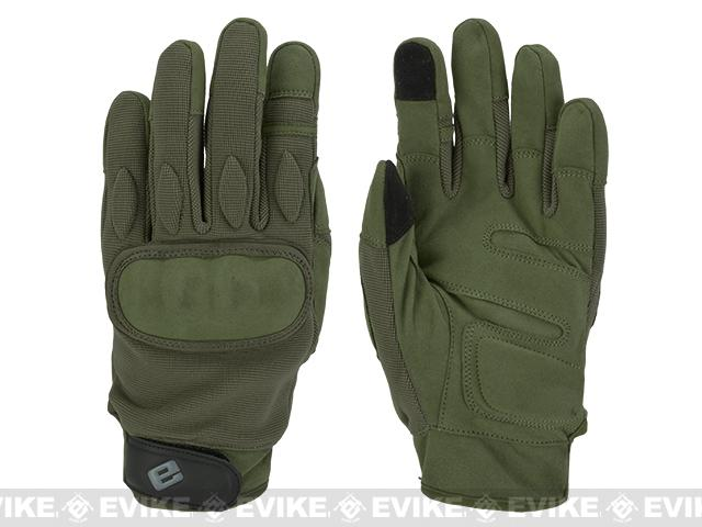 Evike.com Guardian Hard Knuckle Tactical Gloves - OD Green (Size: Small)