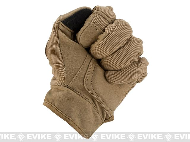 Evike.com Guardian Hard Knuckle Tactical Gloves - Tan (Size: X-Large)