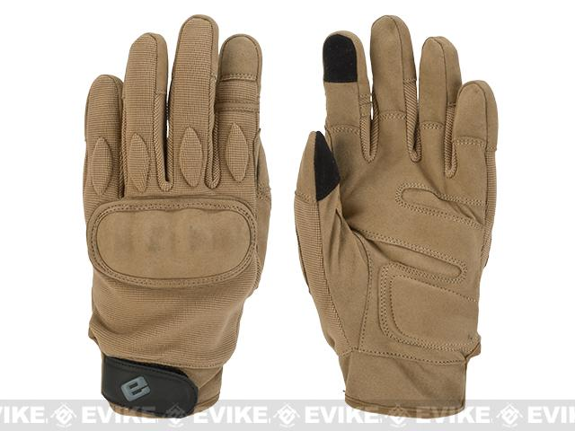 Evike.com Guardian Hard Knuckle Tactical Gloves - Tan (Size: Large)