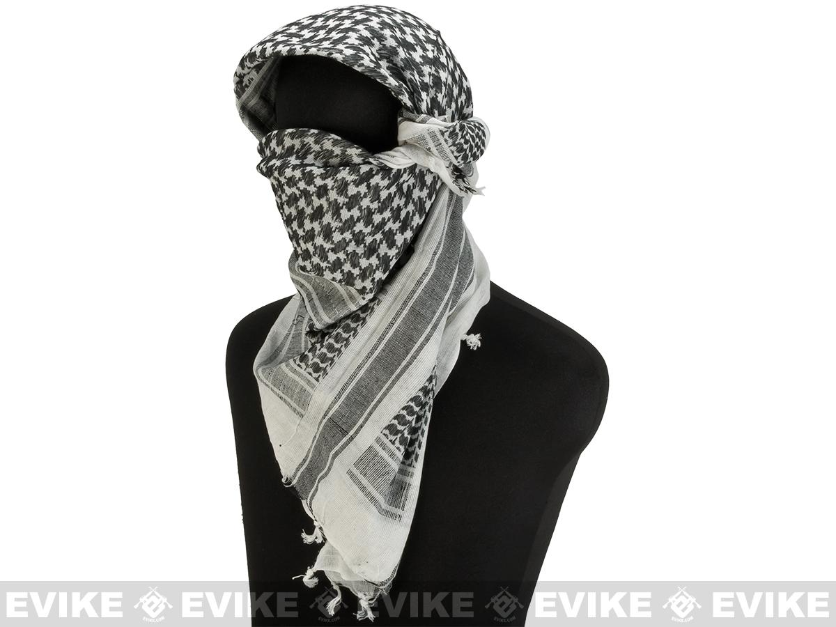 Matrix / Valken Woven Coalition Desert Shemagh / Scarves - (Black / White)
