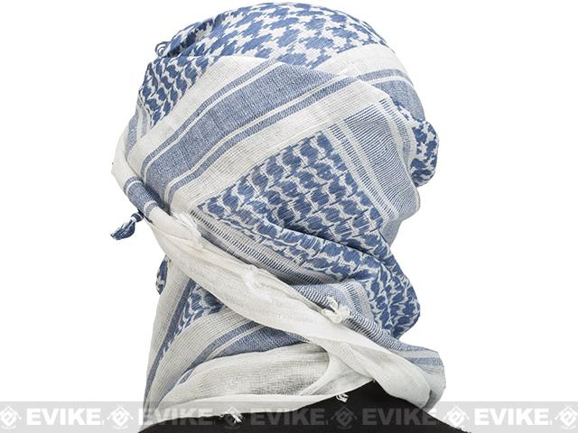 Matrix Woven Coalition Desert Shemagh (Color: Blue/White)