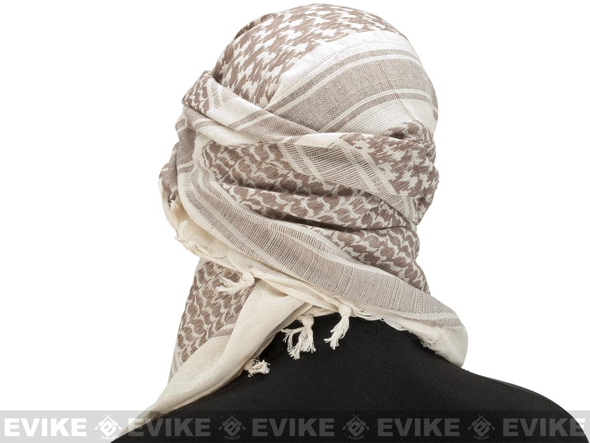 Matrix Woven Coalition Desert Shemagh / Scarves. (Brown / Tan)