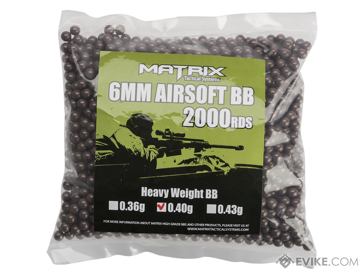 Matrix 0.40g Version 2 Sniper Grade 6mm Airsoft BB - 2,000 RDS