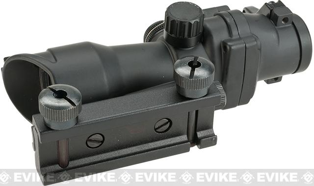 Matrix Illuminated Red & Green Dot Airsoft Reflex Sight Scope with Iron Sights - Black