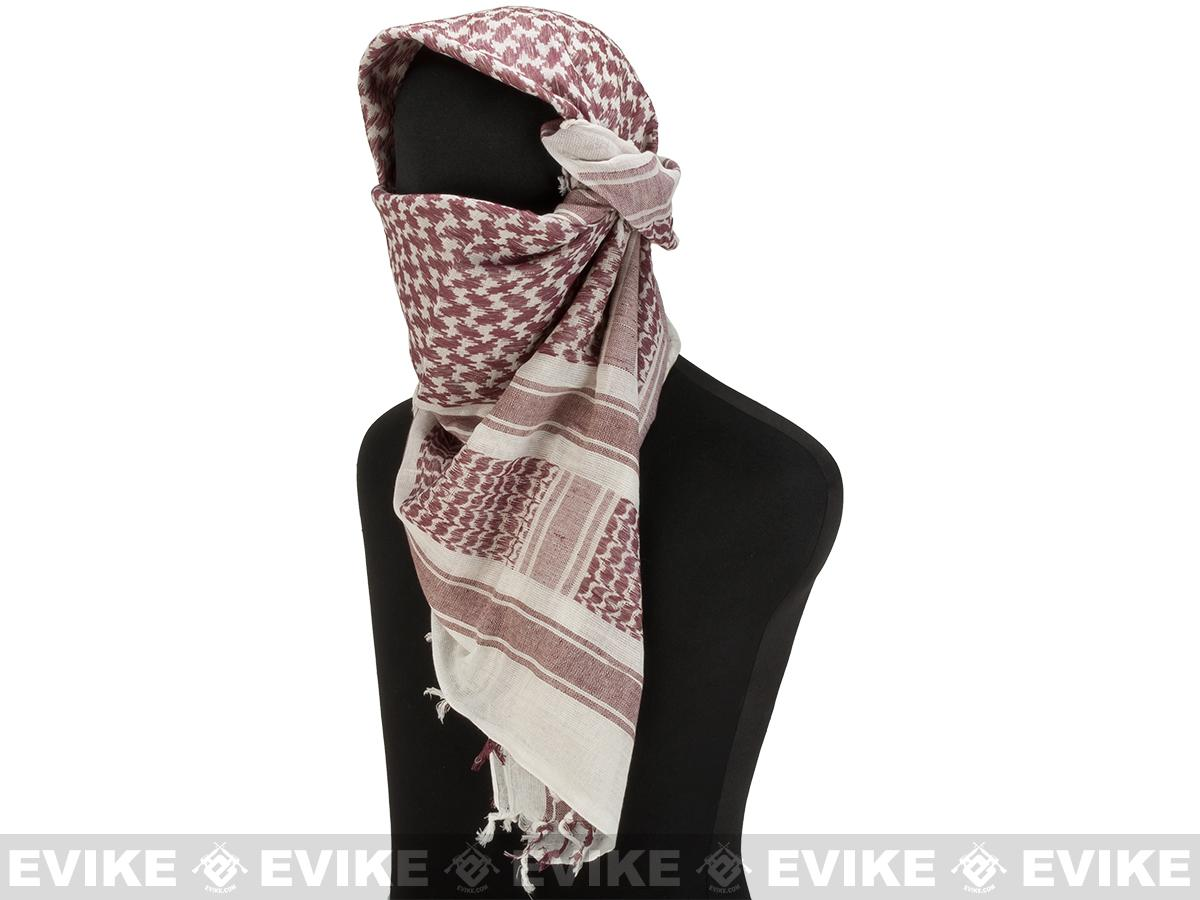 Matrix Woven Coalition Desert Shemagh / Scarves (Brown/White)