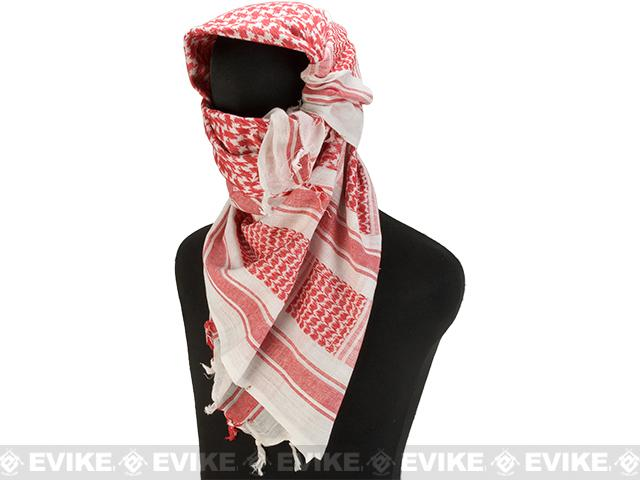 Matrix Woven Coalition Desert Shemagh / Scarves - (Red / White)