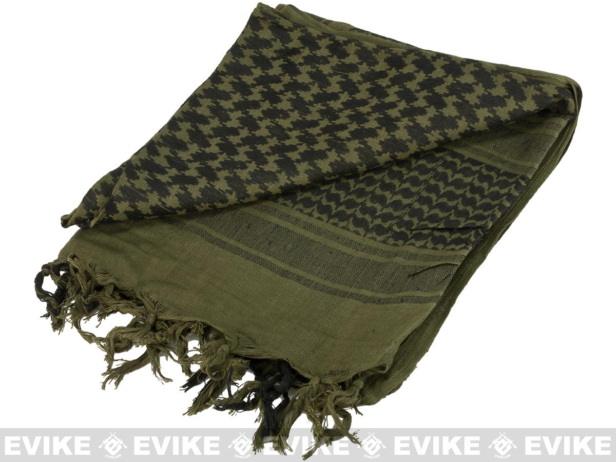 Matrix Woven Coalition Desert Shemagh / Scarves (Color: Green / Black)