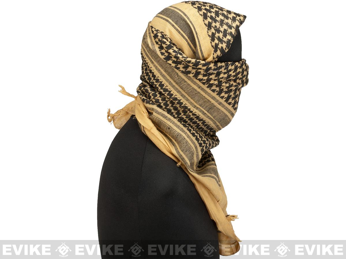 Matrix / Valken Woven Coalition Desert Shemagh / Scarves - (Tan / Black)