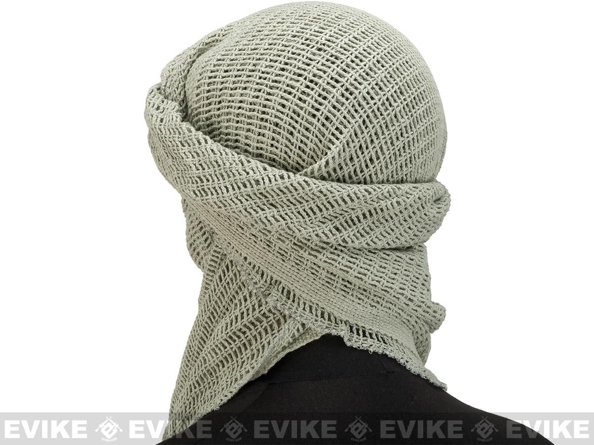 Military Grade 100% Cotton Sniper Veil Head Wrap / Scarf - Foliage Green