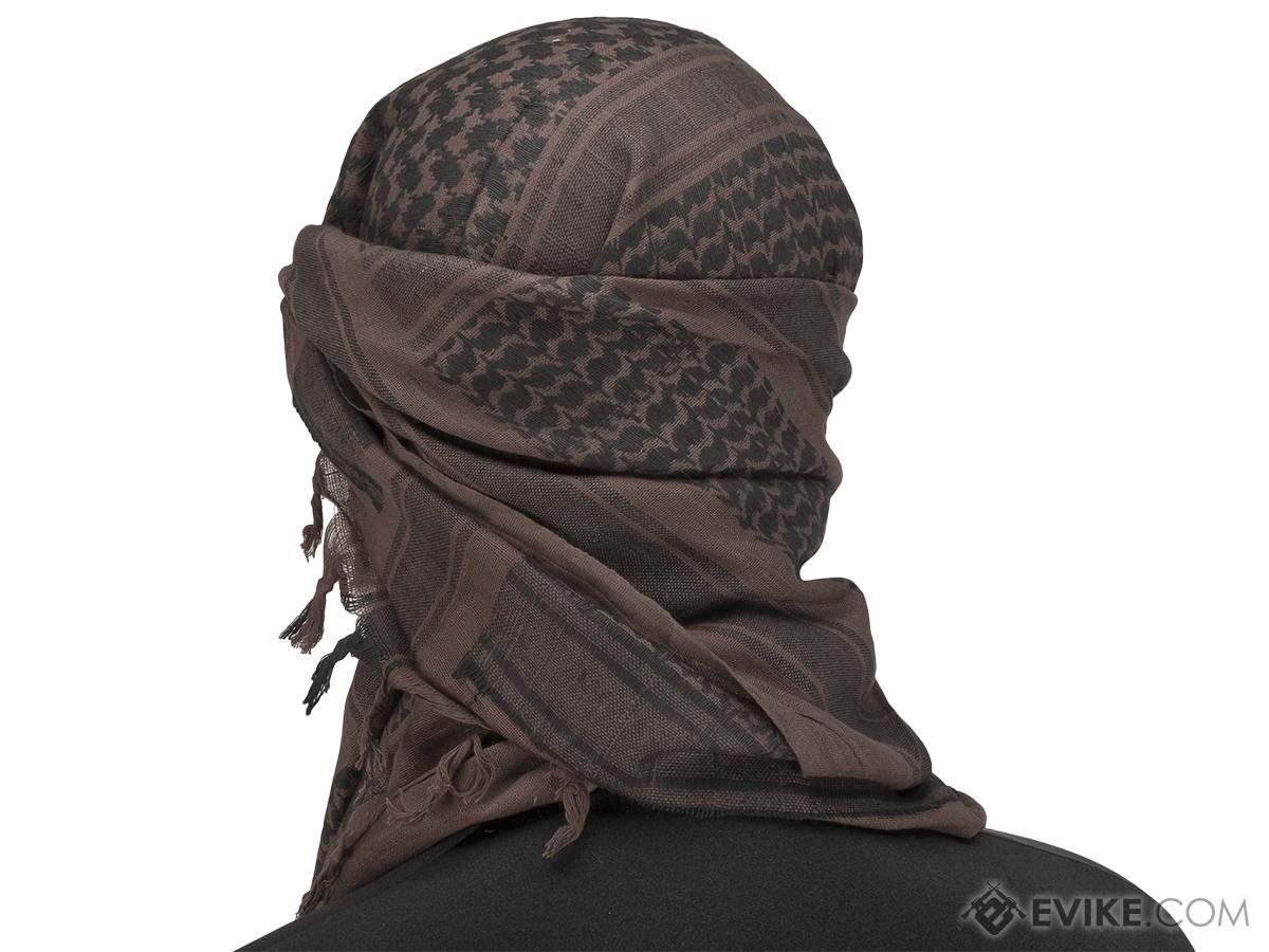 Matrix Woven Coalition Desert Shemagh / Scarves (Color: Mocha / Black)