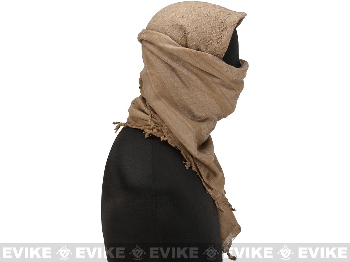 Matrix Woven Coalition Desert Shemagh / Scarves (Color: Tan)