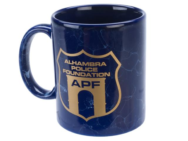 Alhambra Police Foundation 11oz High Quality Marbled Ceramic Mug - Blue