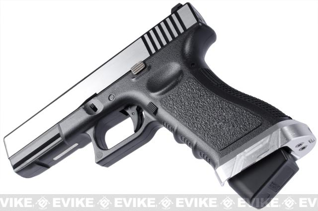 Matrix IPSC CNC Aluminum Magwell for G Series 17 / 18C Series Airsoft GBB Pistols - (Type B / Black)