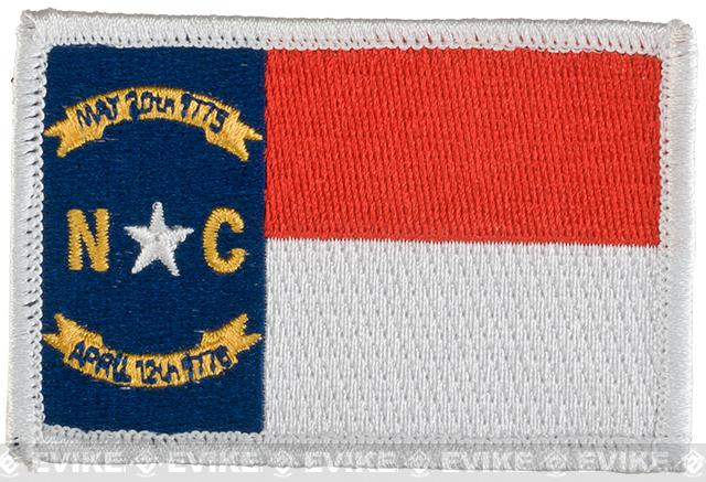 Evike.com Tactical Embroidered Flag Patch (State: North Carolina The Tar Heel State)