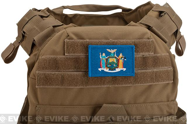 Evike.com Tactical Embroidered Flag Patch (State: New York The Empire State)