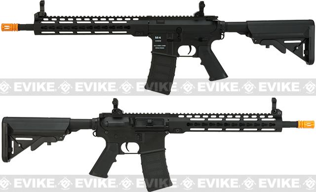 Classic Army Polymer  KM12 M4 Airsoft AEG Rifle with 12 KeyMod Handguard - Black