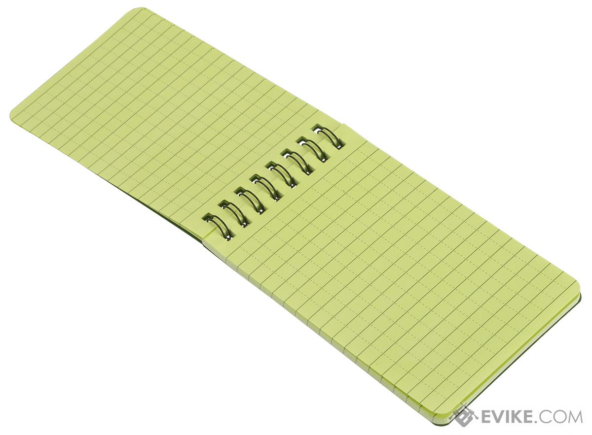 Phantom Gear All Weather Pocket Sized Notebook with Grid Paper - OD Green