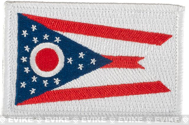 Evike.com Tactical Embroidered Flag Patch (State: Ohio The Buckeye State)