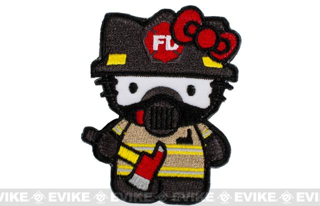 z ORCA Industries Firefighter Kitty Embroidered Patch
