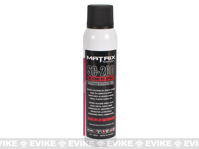 Matrix Competition Grade Airsoft / Firearm Silicone Lubricant Oil spray : 200ml large can
