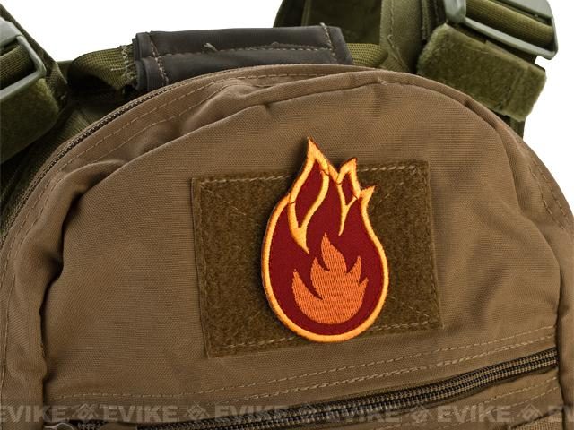 Mil-Spec Monkey Fireball Hook and Loop Patch - Fire