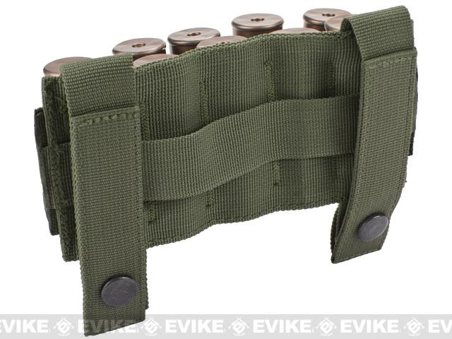 Matrix 10 Shotgun Shell MOLLE System Ready Pouch / Holster - OD Green