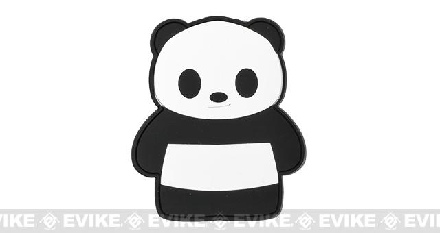 Epik Panda Birthday Suit PVC Rubber Hook and Loop Morale Patch - Black / White
