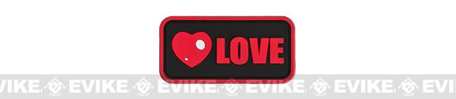 Epik Panda Love PVC Rubber Hook and Loop Morale Patch