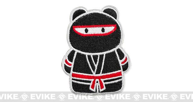 z Epik Panda Ninja Embroidered Hook and Loop Morale Patch - Black / Red