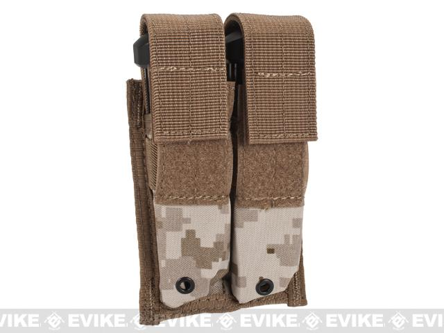 Tactical MOLLE Double Pistol Magazine Pouch - Digital Desert Marpat