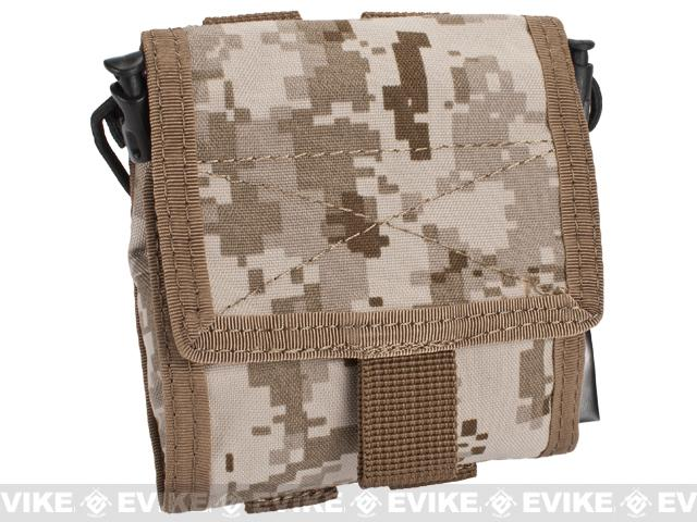 Roll-Up / Foldable Tactical MOLLE Utility Dump Pouch by Phantom - Digital Desert Marpat