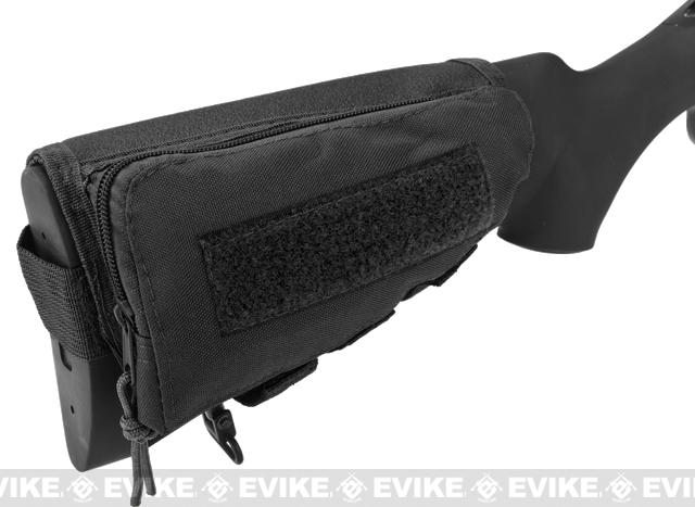 Modify Rifle Stock Ammo Pouch w/ Cheek Pad - Black