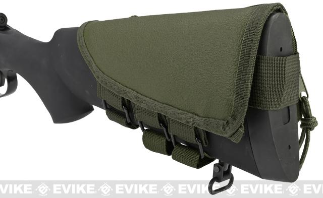 Modify Rifle Stock Ammo Pouch w/ Cheek Pad - OD Green
