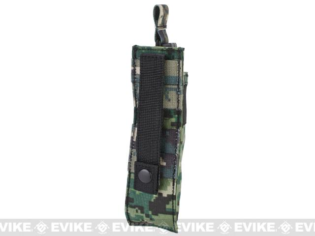 Matrix Airsoft SMG Single Magazine MOLLE Pouch - Digital Woodland