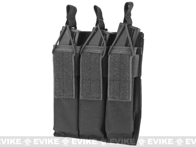 Matrix Airsoft SMG Triple Magazine MOLLE Pouch - Black