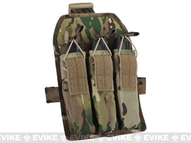 Matrix Airsoft SMG Magazine Thigh Pouch - Land Camo