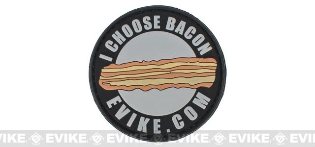 Evike.com PVC Hook & Loop IFF Patch - I Choose Bacon (2.5)