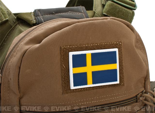 PVC Hook and Loop International Flag Patch (Flag: Sweden)