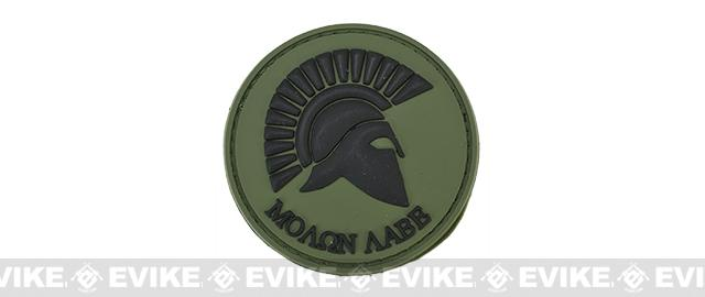 PVC Hook and Loop IFF Patch - Spartan: Molon Labe - OD Green