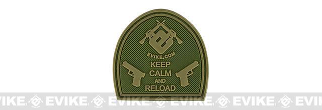 Evike.com Keep Calm PVC Morale Patch - OD Green