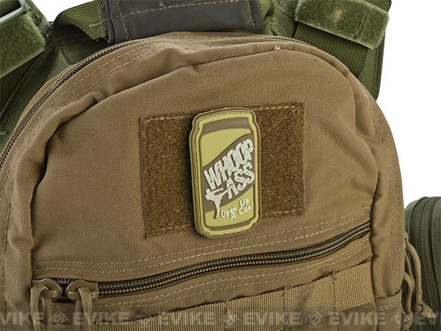 PVC Hook and Loop IFF Patch - Can Of Whoop Ass - Tan