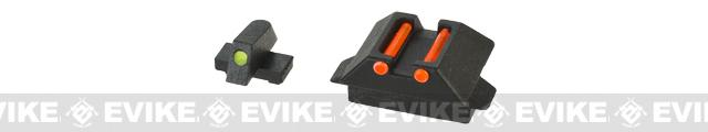 WE-Tech Fiber Optic Sight Set for WE33 Series Airsoft GBB Pistols - Part # 44 + 46