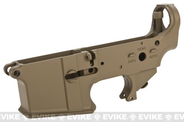 WE-Tech OEM Replacement Lower Receiver for WE M4 Series GBB Rifles - Part# 105 (Tan)