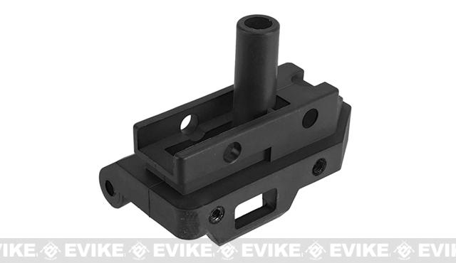WE-Tech Replacement Stock Adapter for MSK Series Airsoft GBB Rifles - Part# 165 (Black)