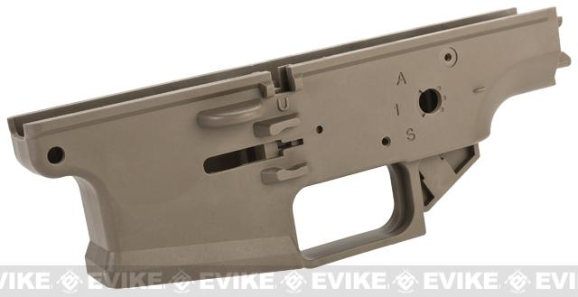 WE-Tech OEM Polymer Lower Receiver for SCAR Series GBB Rifles Part# 102 - Tan